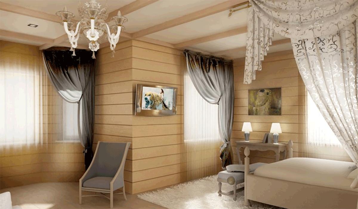 деревянный интерьер в квартире