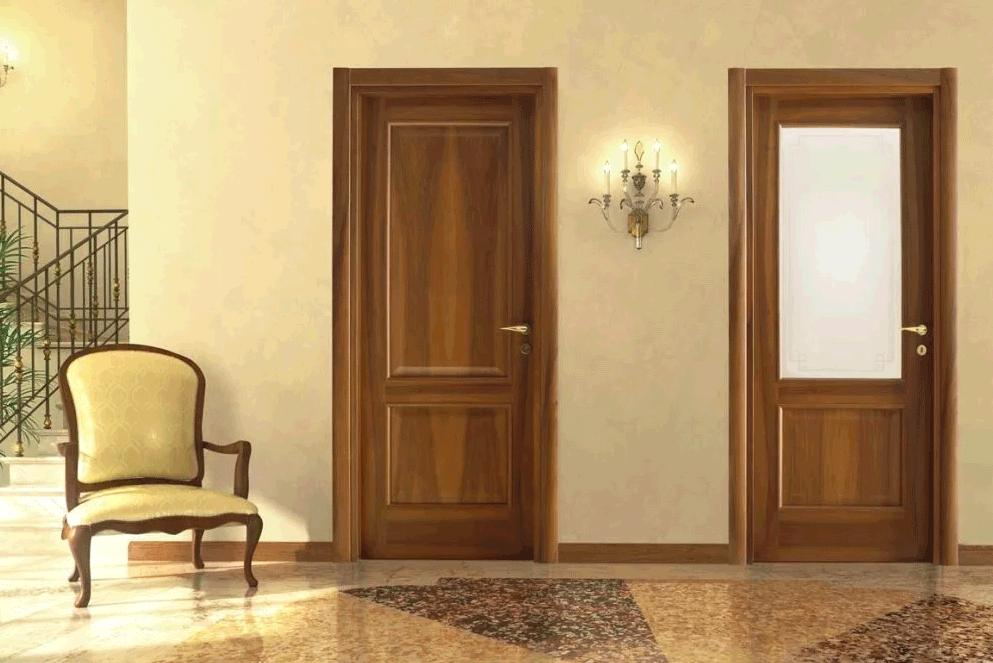 деревянные двери в интерьере