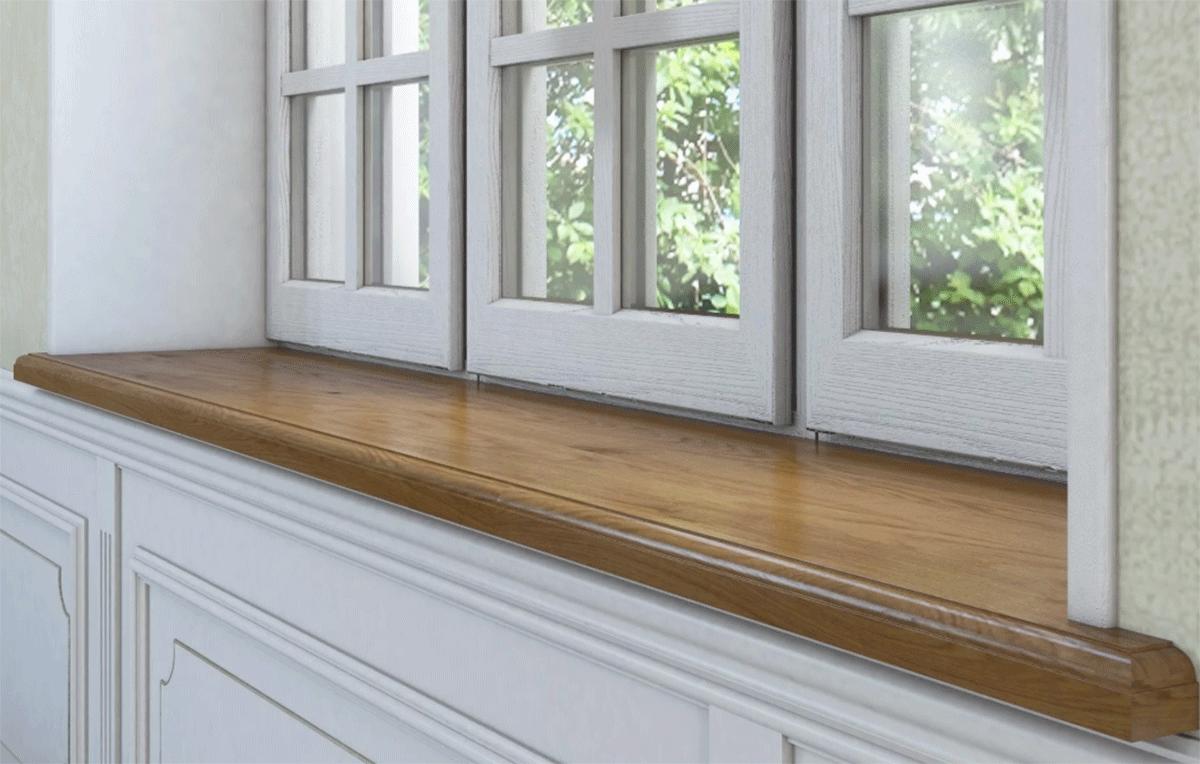 современный деревянный подоконник