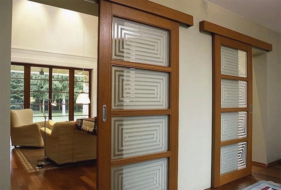 существуют различные типы раздвижных дверей