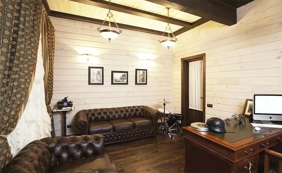 белый цвет в деревянном интерьере