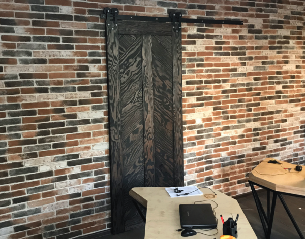 лофт стиль дверь раздвижная на заказ